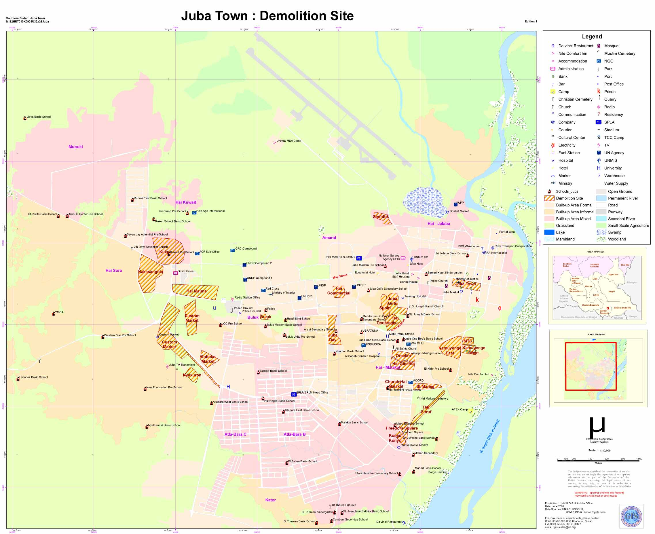 State Information Central Equatoria State UNMIS