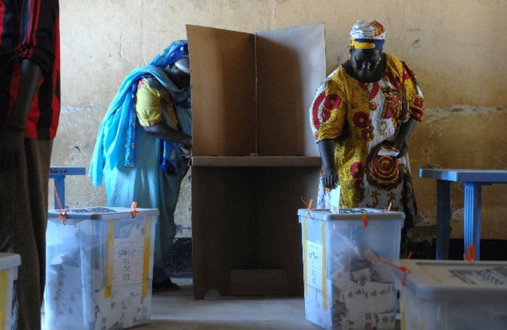 Polling booth, Juba