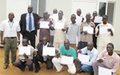 Ex-combatants in Aweil receive driving licenses