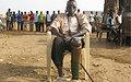 One-legged veteran walks three miles to vote