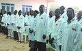Heath care workers graduate in Wau
