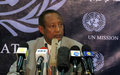 SRSG Menkerios: UNMIS supports authorities to ensure credible elections