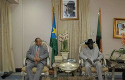 SRSG Haile Menkerios meeting with Government of Southern Sudan President and First Vice-President of Sudan Salva Kiir Mayardit.